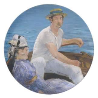 Manet Boating Plate