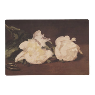 Manet | Branch of White Peonies and Secateurs Placemat