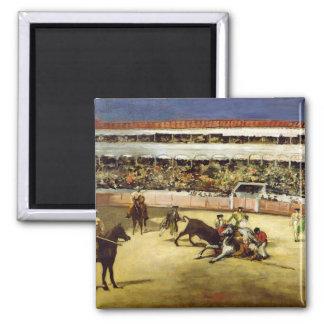 Manet | Bull Fight, 1865 2 Inch Square Magnet