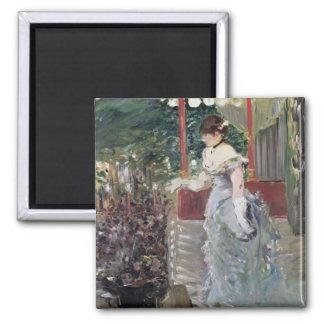 Manet | Cafe Concert, 1879 2 Inch Square Magnet