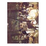 Manet, Edouard Musik im Tuileriengarten 1862 Techn Post Cards