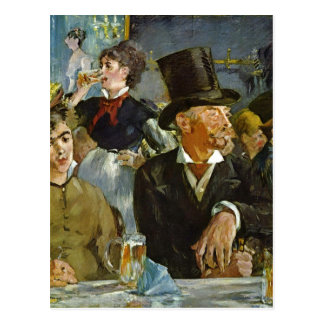 ¿Manet Eduardo Im Caf - othe 1878 de la técnica Postal