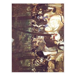 Manet, Eduardo Musik im Tuileriengarten Techn 1862 Tarjeta Postal