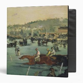 Manet | Horse Racing, 1872 3 Ring Binder