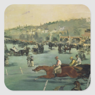 Manet | Horse Racing, 1872 Square Sticker