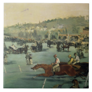 Manet | Horse Racing, 1872 Tile