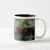 Manet | Horse Racing, 1872 Two-Tone Coffee Mug