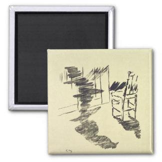 Manet | Illustration for 'The Raven' 2 Inch Square Magnet