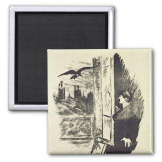 Manet | Illustration for 'The Raven' Magnet