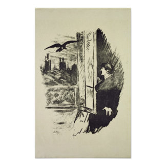 Manet | Illustration for 'The Raven' Poster