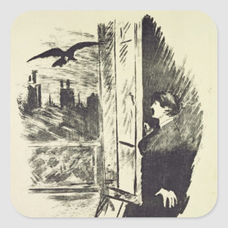 Manet | Illustration for 'The Raven' Square Sticker