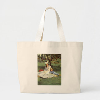 Manet Impressionist French Artwork Painting Large Tote Bag