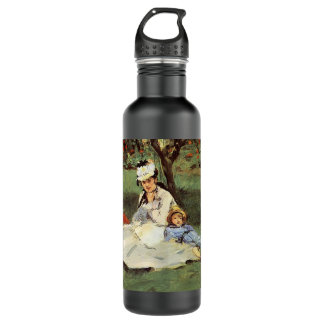 Manet Impressionist French family in garden 24oz Water Bottle