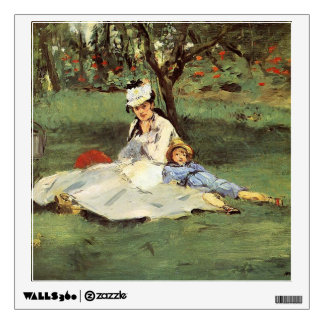 Manet Impressionist French family in garden Wall Sticker