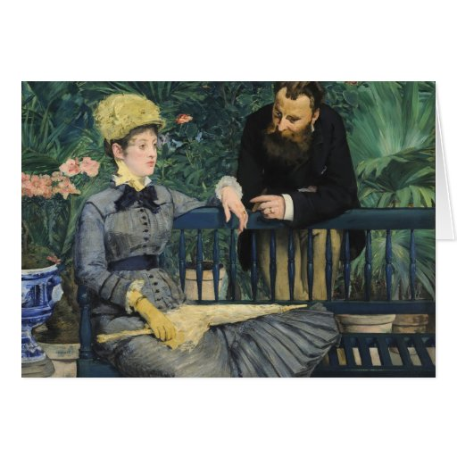 Manet,  In the Conservatory Cards
