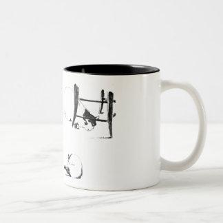 MANET: LES CHATS, 1869 Two-Tone COFFEE MUG
