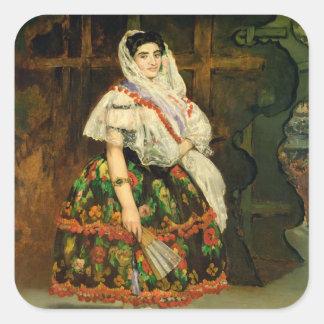Manet | Lola de Valence, 1862 Square Sticker