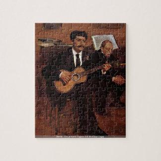 Manet - los Pagans y el Monsieur Degas del guitarr Rompecabezas Con Fotos