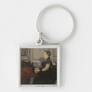 Manet   Madame Manet at the Piano, 1868 Keychain