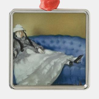 Manet | Madame Manet on a Blue Sofa, 1874 Metal Ornament