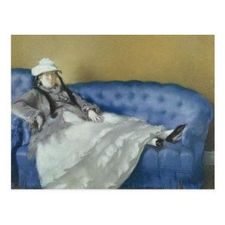 Manet   Madame Manet on a Blue Sofa, 1874 Postcard