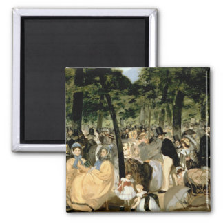 Manet | Music in the Tuileries Gardens, 1862 2 Inch Square Magnet