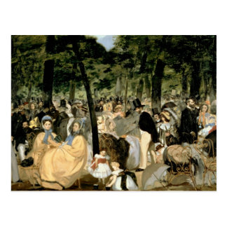 Manet | Music in the Tuileries Gardens, 1862 Postcard