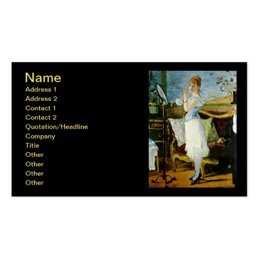 Manet Nana Fine Art Business Card Template