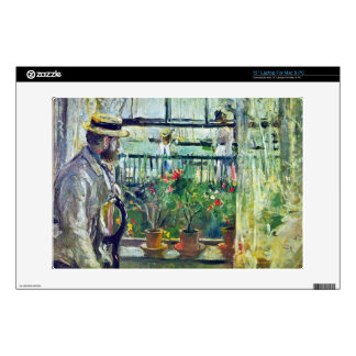 """Manet on the Isle of Wight by Berthe Morisot 13"""" Laptop Decals"""