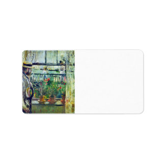 Manet on the Isle of Wight by Berthe Morisot Custom Address Labels