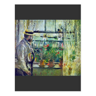 Manet on the Isle of Wight by Berthe Morisot Postcard