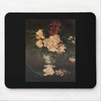 Manet Peonies Mouse Pad