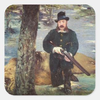 Manet | Pertuiset, Lion Hunter, 1881 Square Sticker