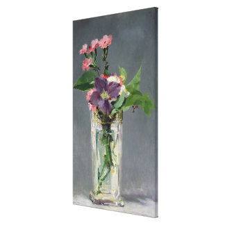 Manet | Pinks and Clematis in a Crystal Vase, 1882 Canvas Print