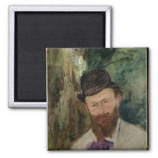 Manet | Portrait of Edouard Manet  c.1880 2 Inch Square Magnet