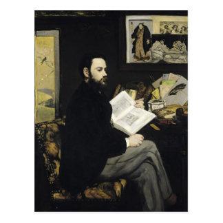 Manet   Portrait of Emile Zola  1868 Postcard
