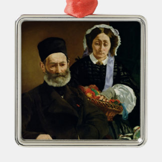 Manet | Portrait of M and Mme Auguste Manet Metal Ornament