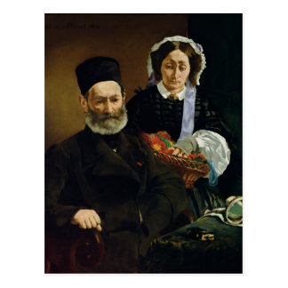 Manet | Portrait of M and Mme Auguste Manet Postcard