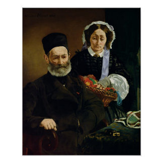 Manet | Portrait of M and Mme Auguste Manet Poster