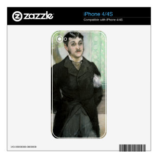 Manet | Portrait of M. Gauthier-Lathuille Decals For iPhone 4