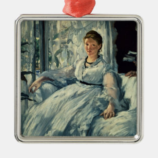 Manet | Reading, 1865 Metal Ornament