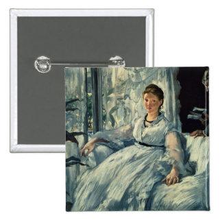 Manet | Reading, 1865 Pinback Button