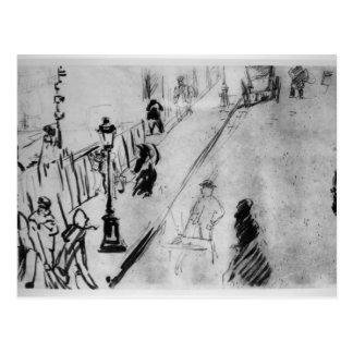 Manet   Rue Mosnier, c.1878 Postcard