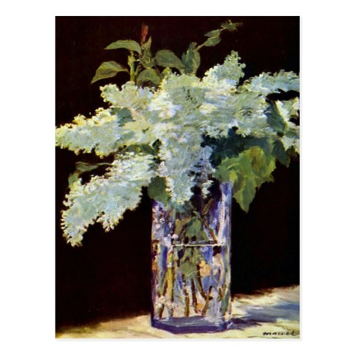 Manet Still Life White Lilacs Postcard