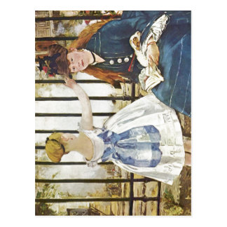 ¿Manet, técnica 1872-1873 de Eduardo Eisenbahn? l  Tarjetas Postales