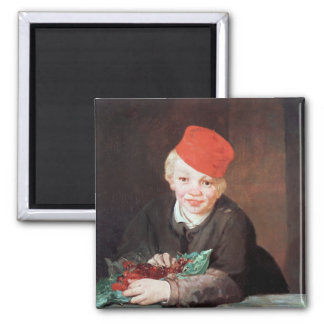 Manet | The Boy with the Cherries, 1859 2 Inch Square Magnet