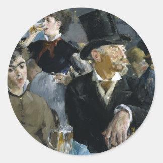 Manet: The Café-Concert, Classic Round Sticker