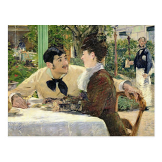 Manet   The Garden of Pere Lathuille, 1879 Postcard