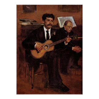 Manet - The guitarist Pagans and Monsieur Degas Poster