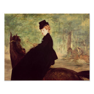 Manet | The Horsewoman, 1875 Poster